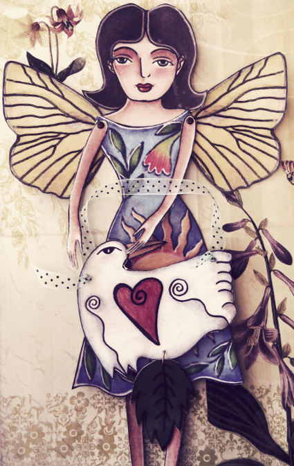 butterfly fairy paper doll wrenrose birdandflower